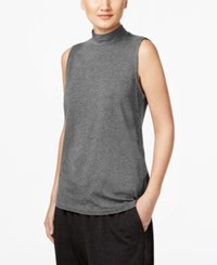 Eileen Fisher Jersey Mock Neck Shell Ash