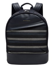 Want Les Essentiels Kastrup Woven Cotton Backpack Blue Multi