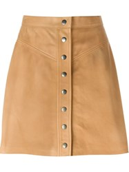 Muubaa Buttoned Mini Skirt Nude And Neutrals