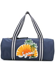See By Chloe Embroidered Beach Bag Women Cotton Polyester One Size Blue