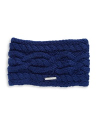Michael Michael Kors Cable Knit Headband Sapphire Blue