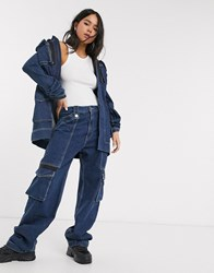 House Of Holland Utility Denim Jeans Co Ord Blue