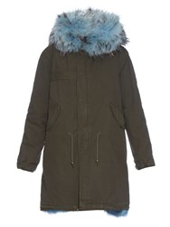 Mr And Mrs Italy Fur Lined Long Canvas Parka