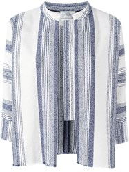 Forte Forte Striped Woven Jacket Nude And Neutrals