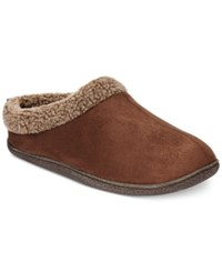 Weatherproof 32 Degrees Men's Slippers Faux Fur Roll Collar Clogs