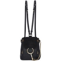 Chloe Black Mini Faye Backpack