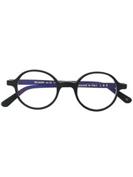 L.G.R Round Glasses Black