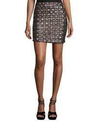 Goldie London Night Fever Sequined Pencil Skirt Gray