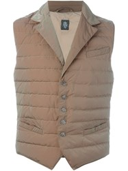 Eleventy Padded Vest Nude And Neutrals