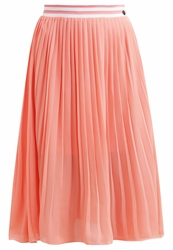 Tom Tailor Denim Pleated Skirt Fusion Coral