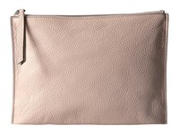Ecco Sculptured Clutch Rose Dust Clutch Handbags Pink