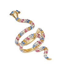 Kate Spade Beaded Snake Wrap Ring Gold