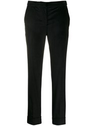 Pt01 Cropped Skinny Trousers Black