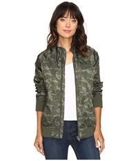 Members Only Washed Satin Ex Boyfriend Jacket Camo Women's Coat Multi