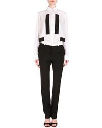 Givenchy Contrast Trimmed Skinny Fit Trousers