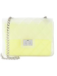 Designinverso 'Taormina' Quilted Shoulder Bag Yellow