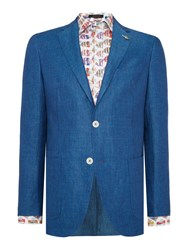 Simon Carter Men's Linen Weave Jacket Light Blue