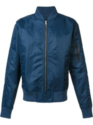 Zanerobe Flight Bomber Jacket Blue