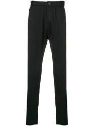 Thom Krom Tailored Fitted Trousers Black