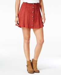 American Rag Embellished Faux Suede A Line Skirt Only At Macy's Beige