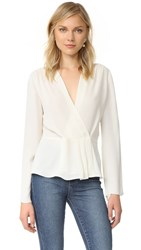 Elizabeth And James Long Sleeve Blouse Ivory