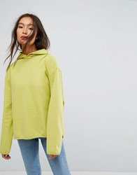 Weekday Hi Lo Sweatshirt Light Lime Green