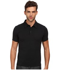 Jack Spade Wilmont Dress Polo Black Men's Short Sleeve Pullover