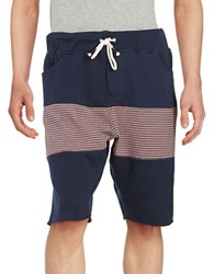 Howe November Sky Striped Knit Shorts