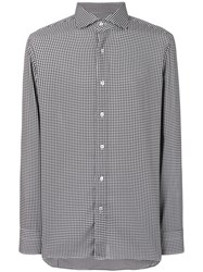 Tom Ford Tailored Houndstooth Print Shirt White