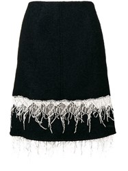 Calvin Klein 205W39nyc Embroidered Fringe Midi Skirt Blue
