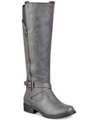 G By Guess Women's Halsey Tall Shaft Riding Boots Women's Shoes Grey