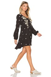 Free People Sweet Tennessee Embroidered Dress Black