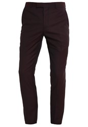Kiomi Trousers Bordeaux Melange Mottled Bordeaux