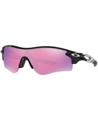 Oakley Sunglasses Oakley Oo9181 Radarlock Path Black Shiny Pink Mirror