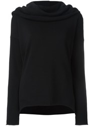 Rta Shawl Neck Jumper Black