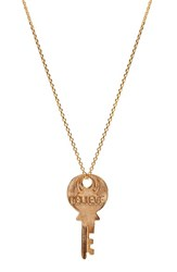 The Giving Keys Women's 'Dainty Classic Hope' 18 Inch Gold Key Pendant Necklace