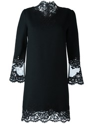 Ermanno Scervino Lace Trimmed Shift Dress Black