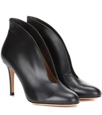 Gianvito Rossi Vamp 85 Leather Ankle Boots Black