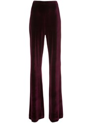 Christian Siriano Wide Leg Trousers Spandex Elastane Polyimide Pink Purple