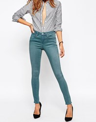 Asos 'Sculpt Me' Premium Jeans In Leela Teal Blue Wash Teal Blue Wash
