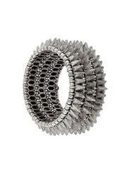 Philippe Audibert Elasticated Spike Bracelet Metallic