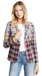 Smythe Patch Pocket Duchess Blazer Madras Plaid
