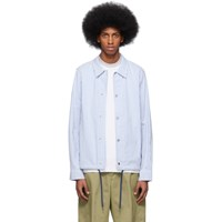 Paul Smith Ps By Blue And White Stripe Casual Jacket