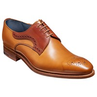 Barkers Cohen Derby Brogues Chocolate Rosewood