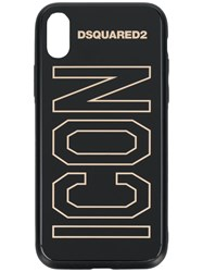 Dsquared2 Icon Slogan I Phone X Case Black
