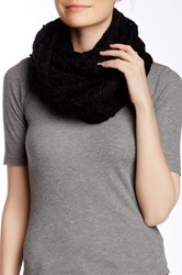 Nine West Chunky Zigzag Knit Infinity Scarf Black