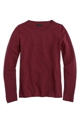 J.Crew Women's Long Sleeve Italian Cashmere Sweater Vintage Burgundy