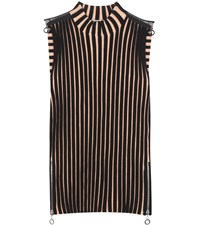 Edun Ribbed Merino Wool Blend Top Black