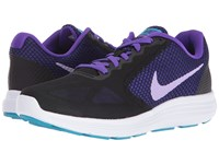 Nike Revolution 3 Black Fierce Purple Blue Lagoon Urban Lilac Women's Running Shoes