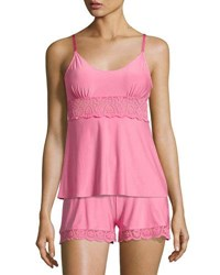 Commando Butter Lace Panel Camisole Medium Pink
